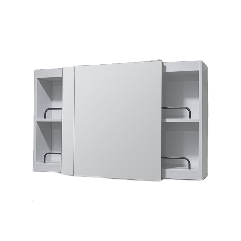 모카바스 미니 슬라이드 욕실 수납장 800 x 500 x 170 mm, 화이트, 1개