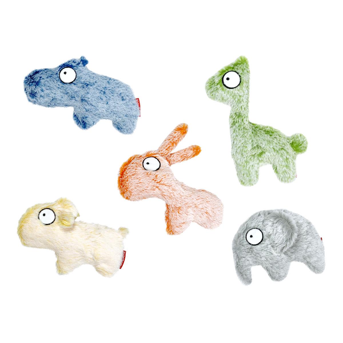 펫케어 고양이 흐리멍텅 동물원 장난감 5종 세트, 하마, 코끼리, 알파카, 당나귀, 양, 1세트