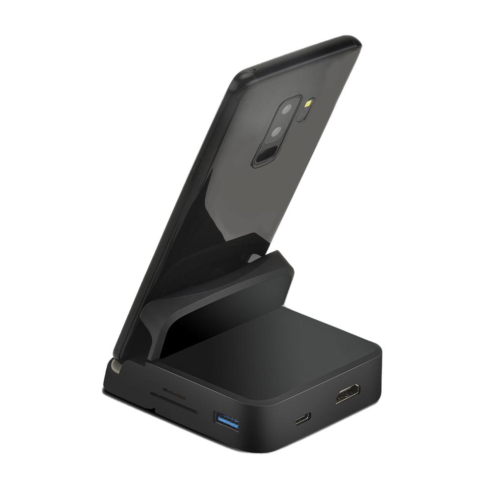 애니포트 8in1 올인원 멀티허브 HDMI 컨버터 스마트 도킹 스테이션 AP-TC81PHD, 단일색상