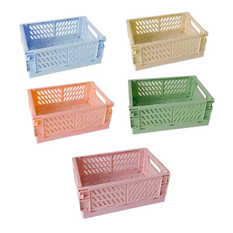 DG생활 파스텔 폴딩 박스 중형 DG-05, 그린, 베이지, 스카이, 핑크, 살몬, 5개