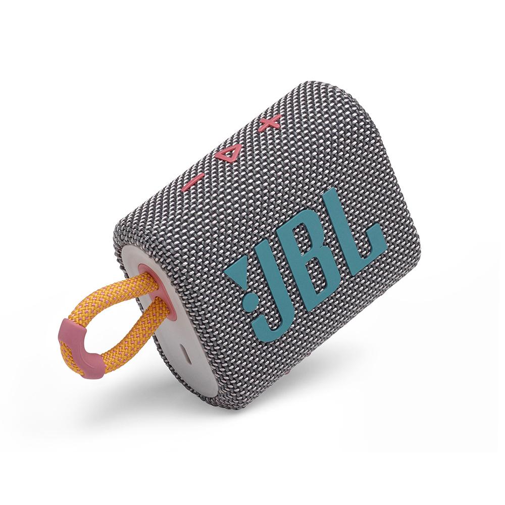 JBL 휴대용 블루투스 스피커, JBLGO3, 그레이