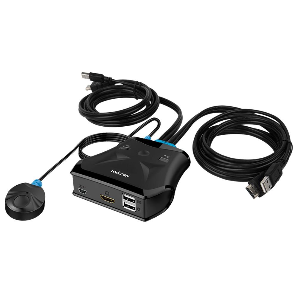 유니콘 HDMI KVM 스위치, KVM-200HDMI