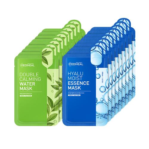 메디힐 더블 카밍 워터 마스크 10p +히알루 모이스트 에센스 마스크 10p, 1세트