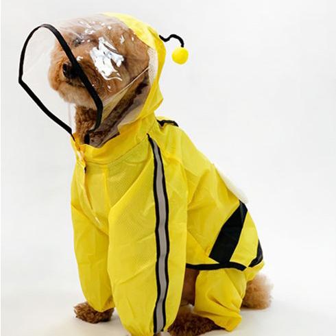유앤펫 강아지 시즌2 꿀벌 레인코트, 혼합색상