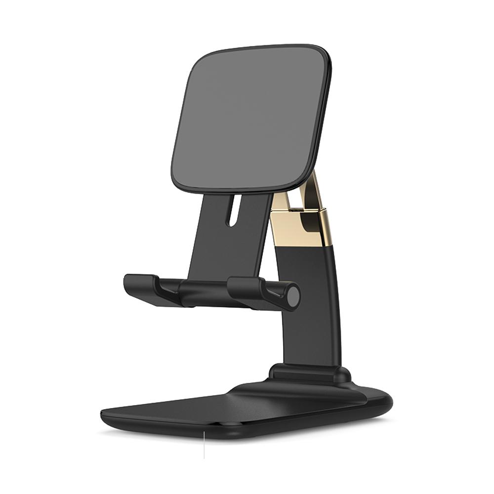 테크파이 스마트폰 태블릿 접이식 휴대용 거치대, TPMA20BK0004, 블랙 + 골드