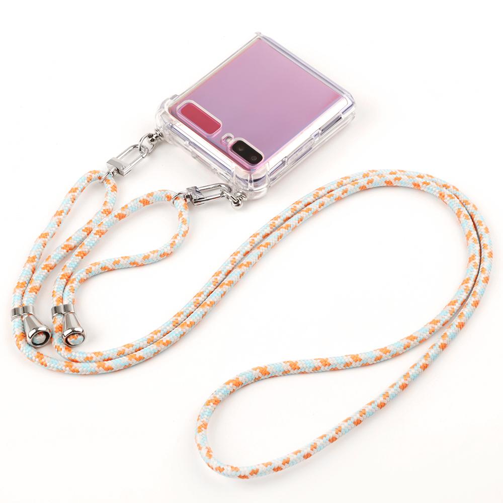 [갤럭시 플립] 목걸이 휴대폰 케이스 + 탈부착형 컬러스트랩 실버고리 - 랭킹29위 (16900원)