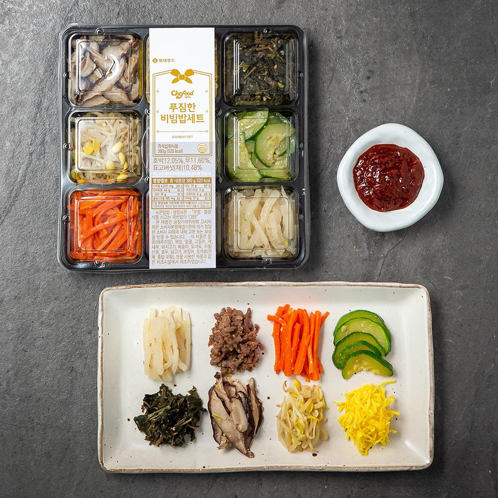 쉐푸드 비빔밥 세트, 380g, 1개