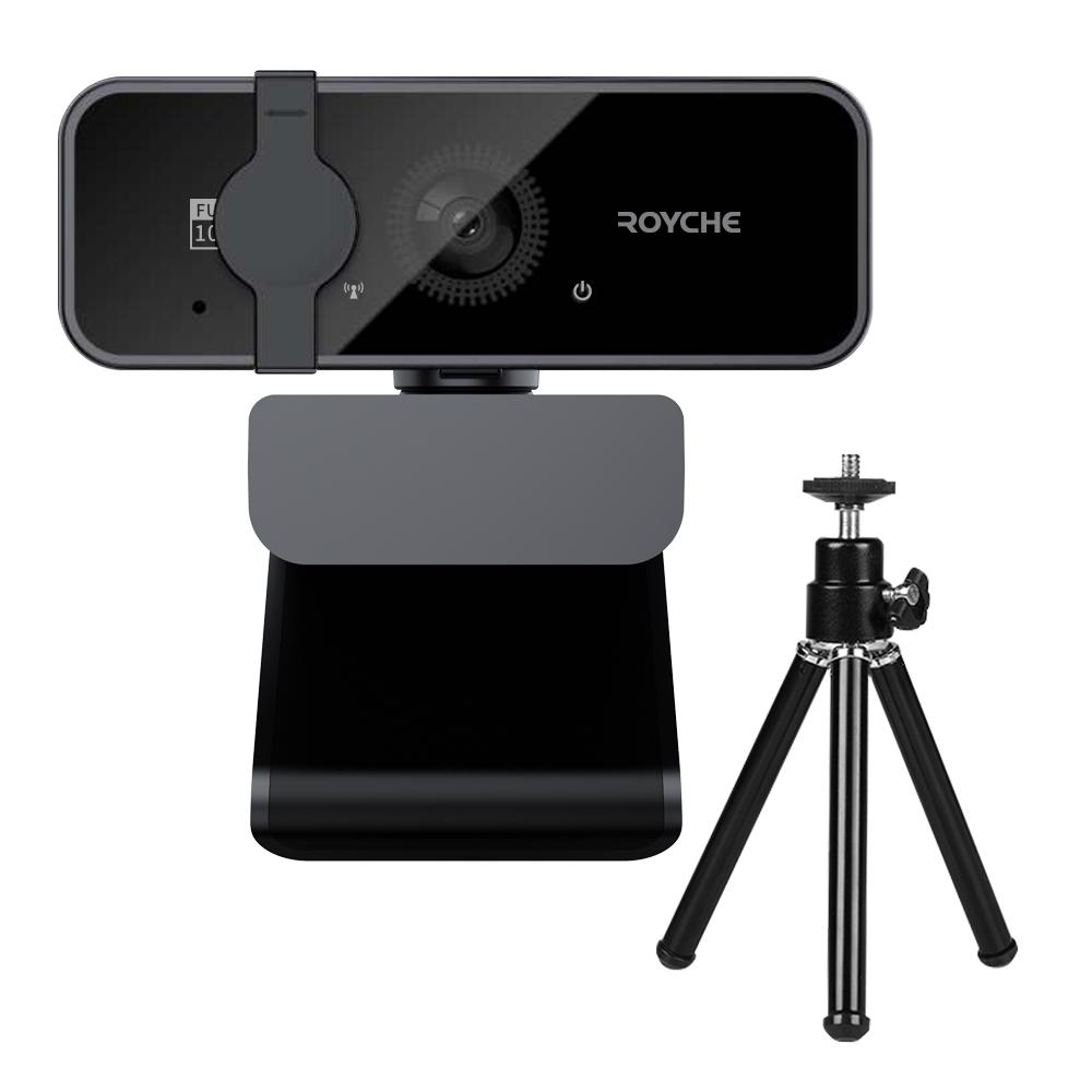 로이체 FULL HD 마이크 내장 웹 카메라 RPC-20F + 삼각대 세트, 혼합색상