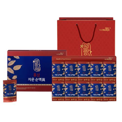 대상웰라이프 홍삼 자운 순액 진 + 쇼핑백, 70ml, 60개