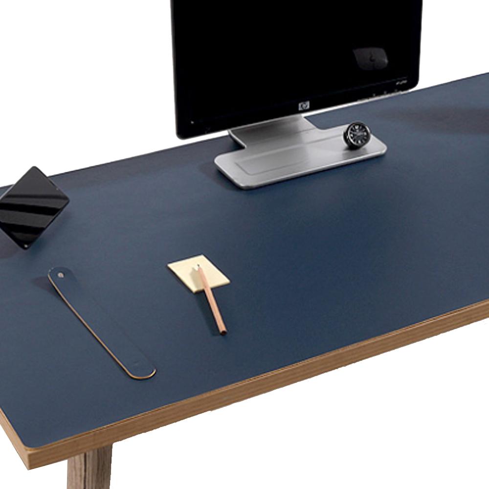 다니카 양면컬러 가죽 마우스패드 대형장패드 데스크매트 KM-900, 블루+옐로우