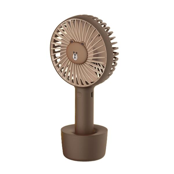 루메나 N9-FAN PRO 라인프렌즈 휴대용 선풍기, 브라운 (POP 4822443879)
