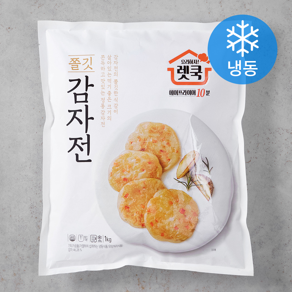 렛쿡 쫄깃쫄깃 감자전 (냉동), 1kg, 1개