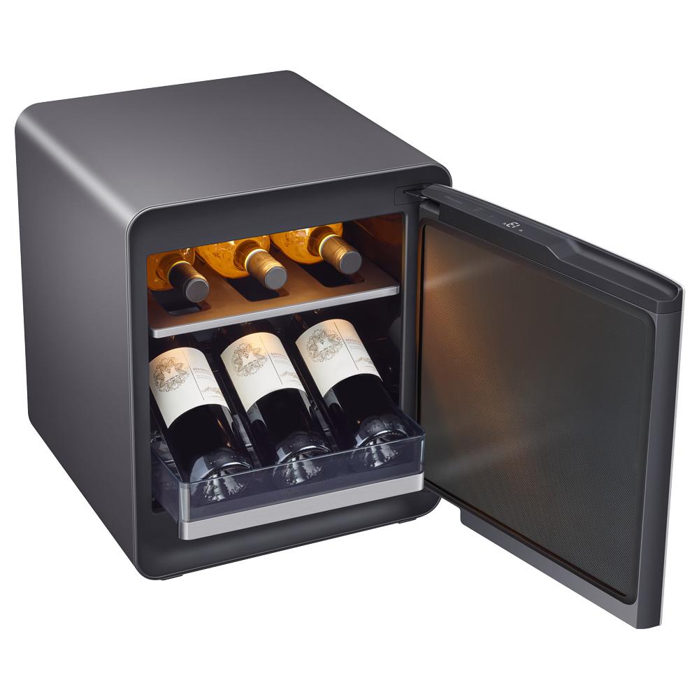 삼성전자 BESPOKE 큐브 와인 냉장고 코타차콜 불투명 25L CRS25T850005 방문설치 6병