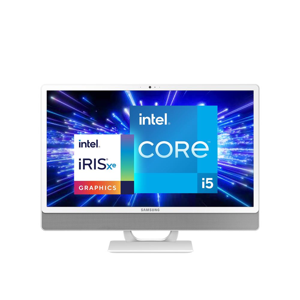 삼성전자 올인원 PC DM530ADA-L58AW (11세대 인텔 i5-1135G7 60.5cm), WIN10, RAM 8GB + 8GB, SSD 256GB