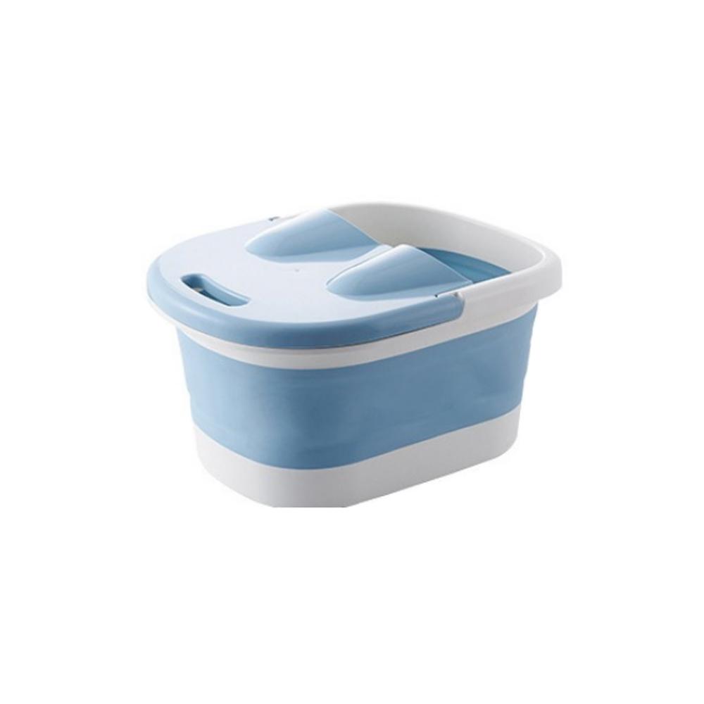 커버 지압롤 일체형 접이식 족욕기 블루, 1개