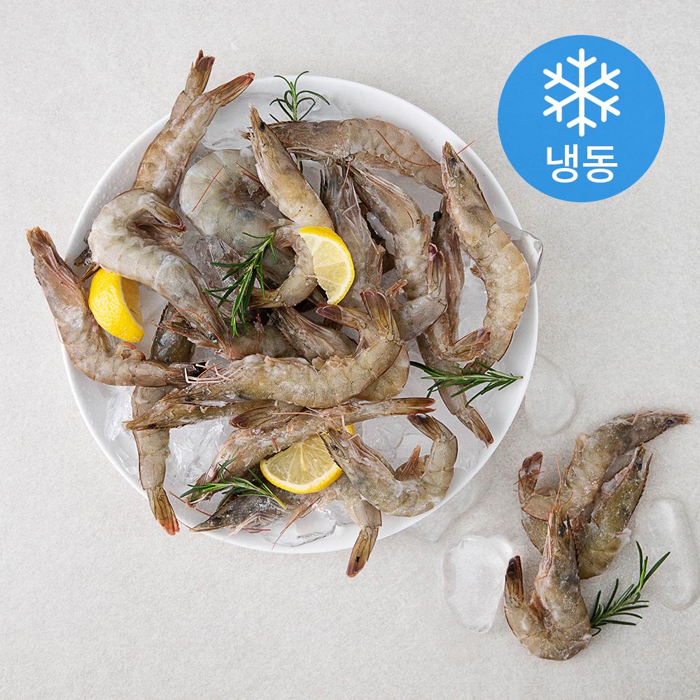 해원에스디 살아있는 그대로 급냉해 살이 꽉찬 국산 새우 41~50미 (냉동), 1kg, 1개