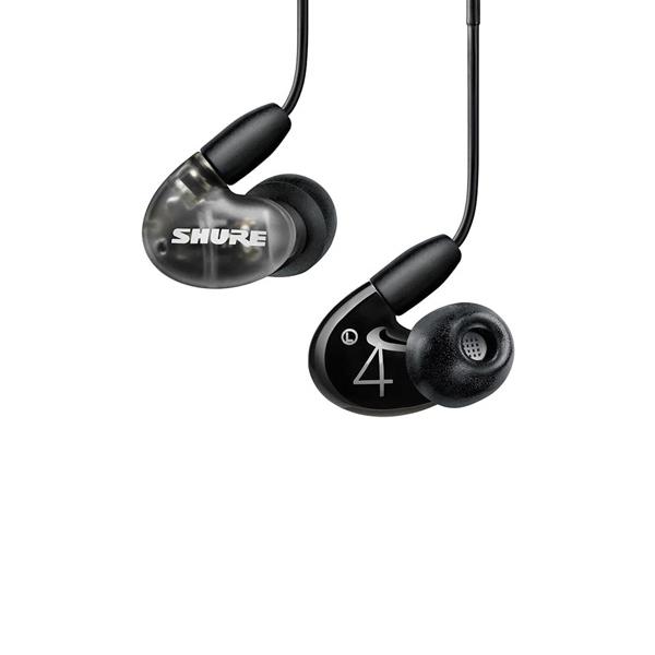 슈어 AONIC 4 사운드 아이솔레이팅 이어폰, 블랙