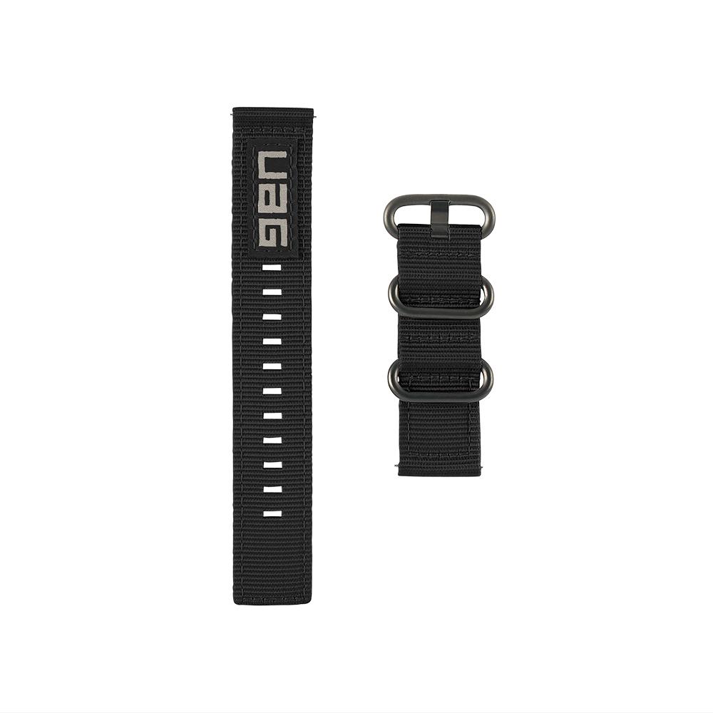 유에이지 갤럭시워치 나토 에코 스트랩 46mm, 블랙, 1세트-20-4924675593