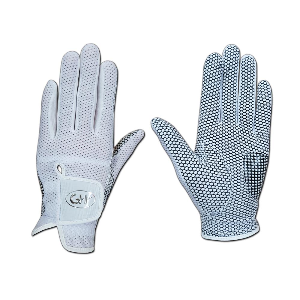 지에이치 여성용 GH 쿨매쉬 실리콘 골프장갑 양손착용, 화이트