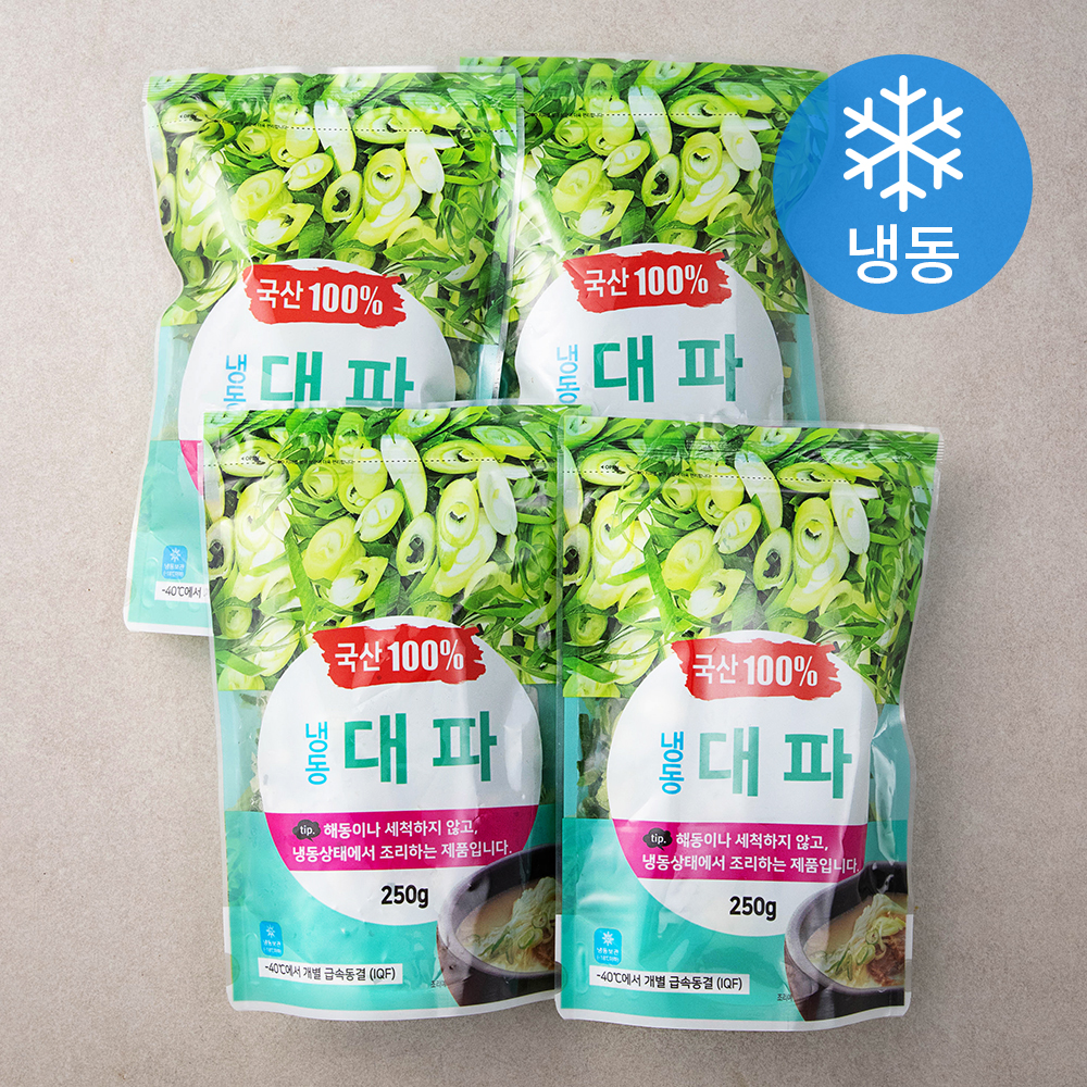그린피아 대파 (냉동), 250g, 4개