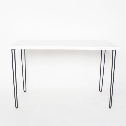 헤어핀 DIY 테이블 철제 다리 책상높이 72cm, 블랙