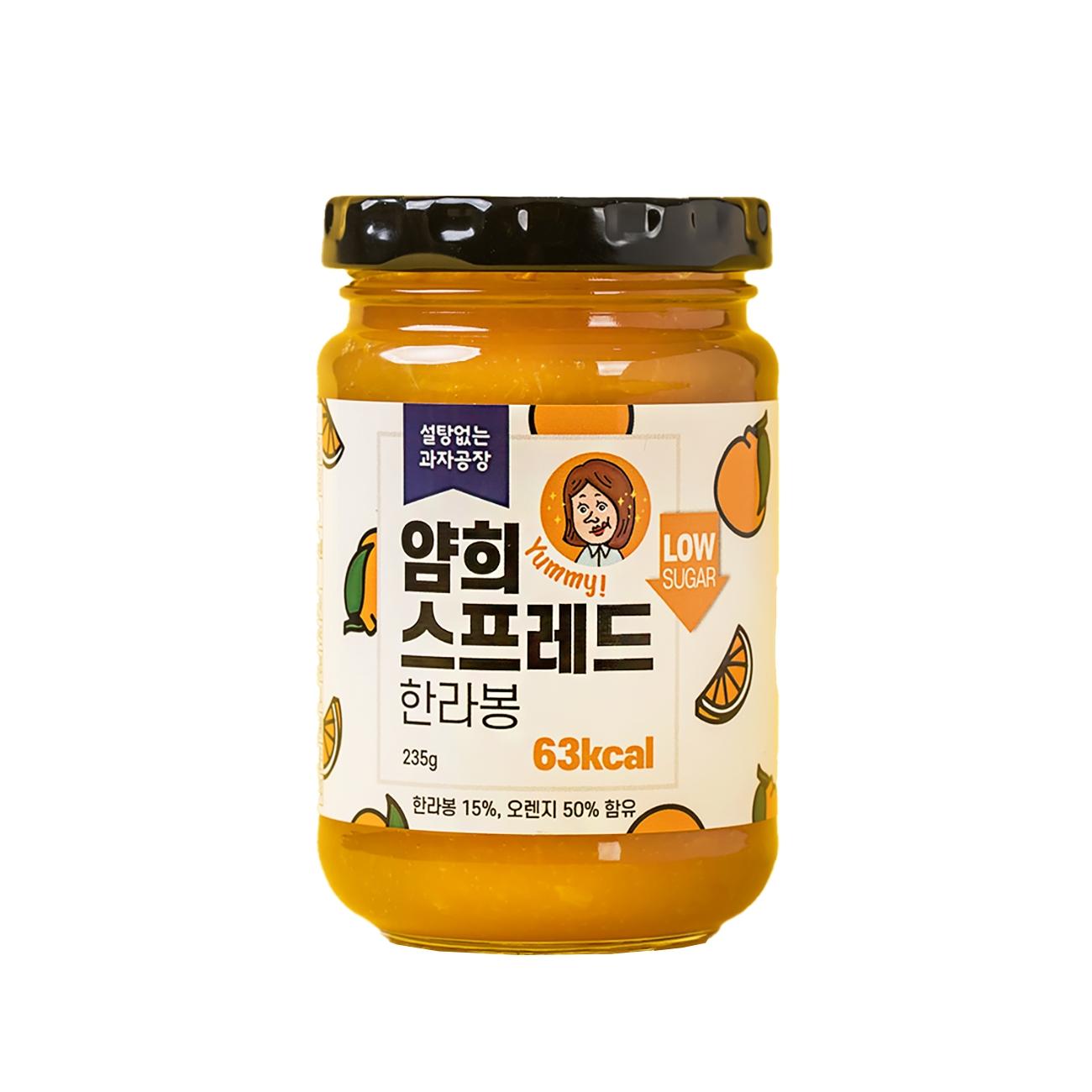 설탕없는과자공장 얌희스프레드 한라봉, 235g, 1개