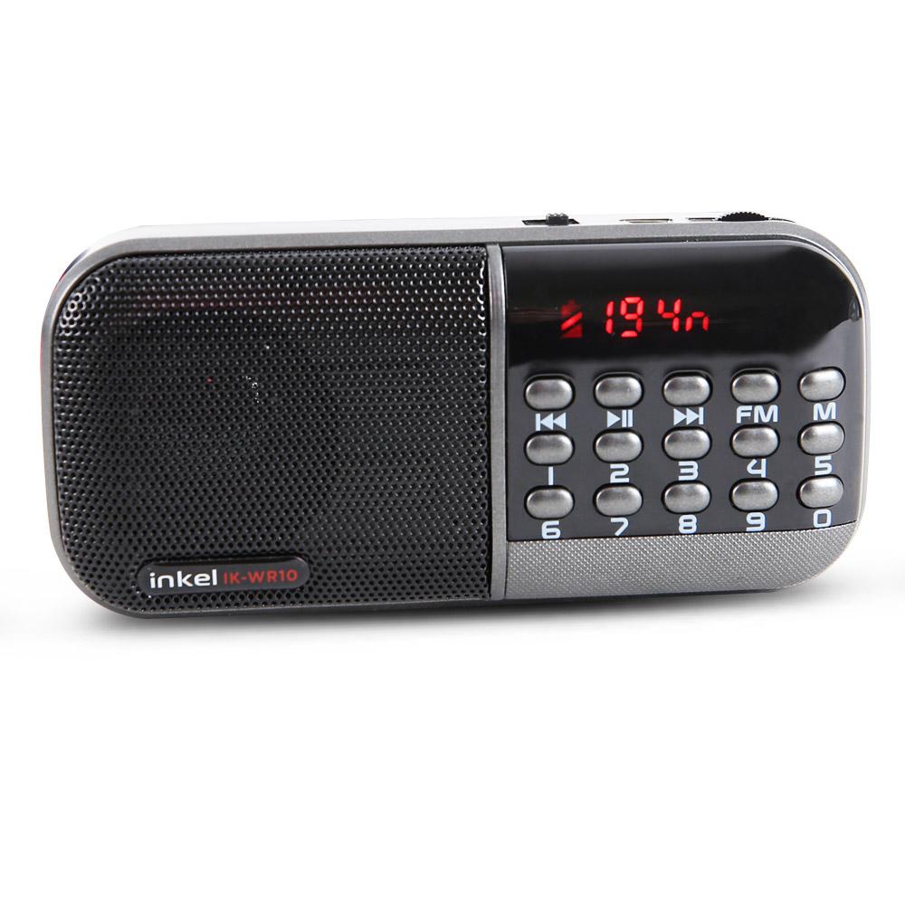 인켈 디지털 휴대용 스피커 라디오, IK-WR10, 블랙