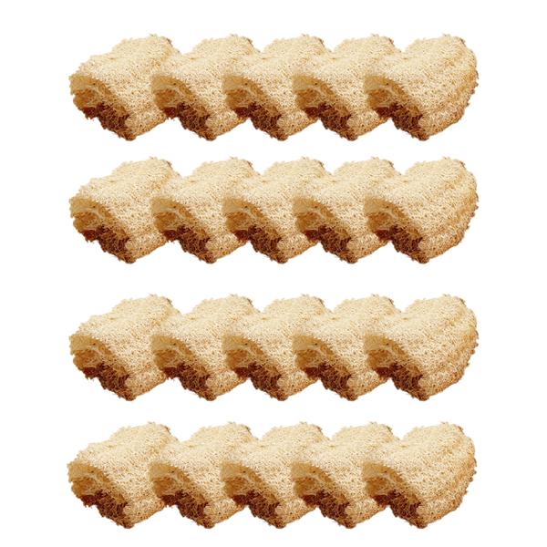 베스트유 다용도 천연 바게트 수세미 대, 20개, 1개입