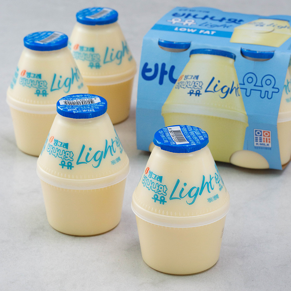 빙그레 바나나맛 우유 라이트, 240ml, 8개
