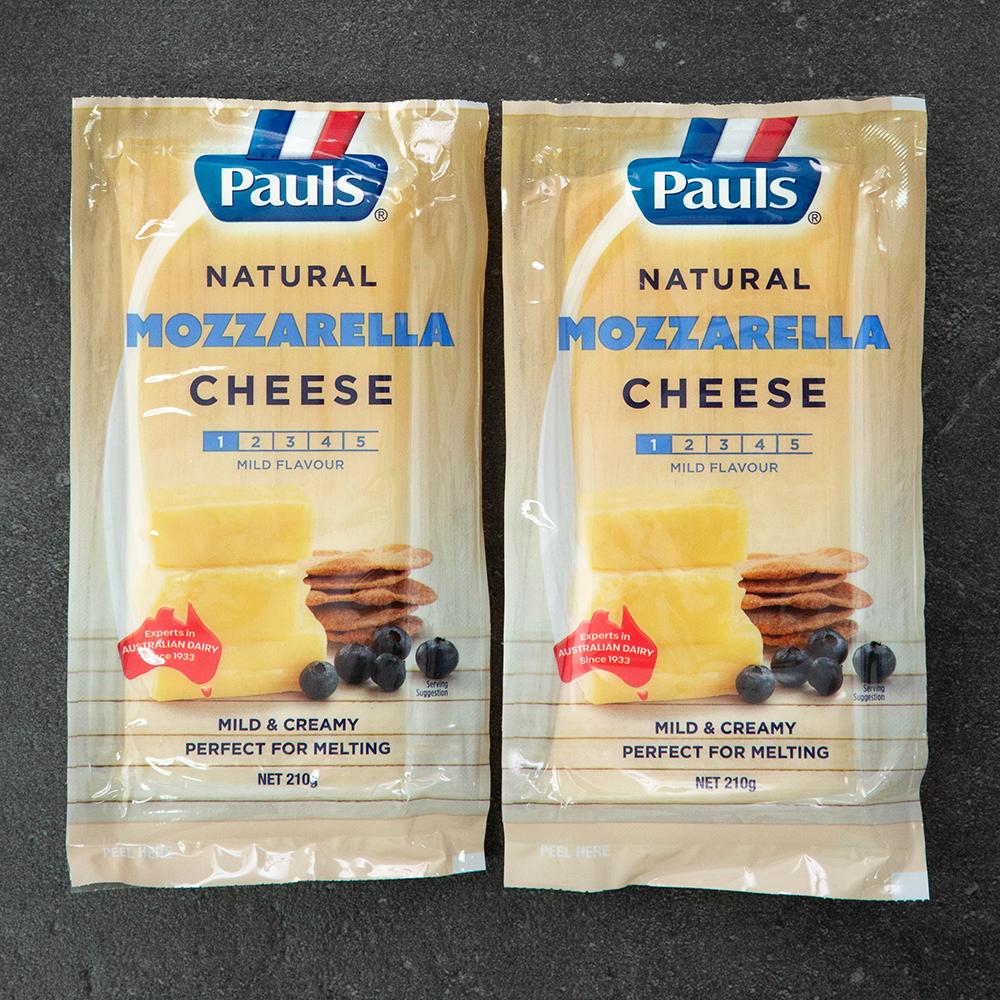폴스 모짜렐라 블록 치즈, 210g, 2개입