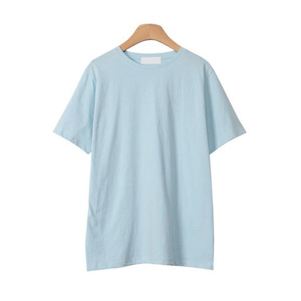 린다샵 여성용 세크벨 베이직 코튼 반팔 티셔츠 T6347K12