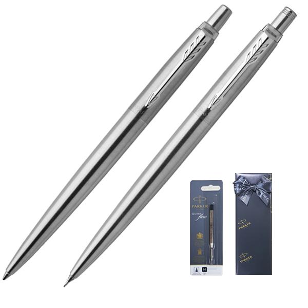 파카 조터 볼펜 0.9~1.0mm + 샤프 + 볼펜심 기프트세트, 스텐레스, 1세트