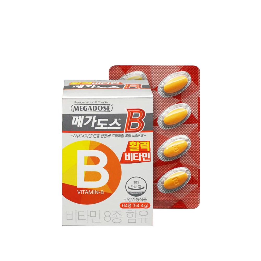 고려은단 메가도스B 비타민, 1개, 64정