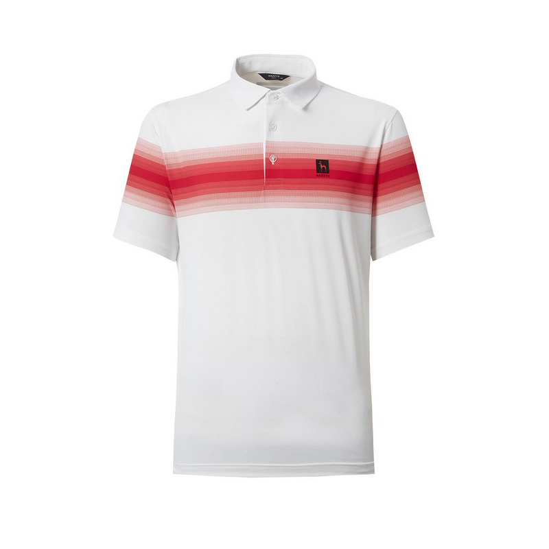 헤지스골프 남성용 DTP 냉감 가슴배색 반팔 티셔츠 HUTS1B422WT