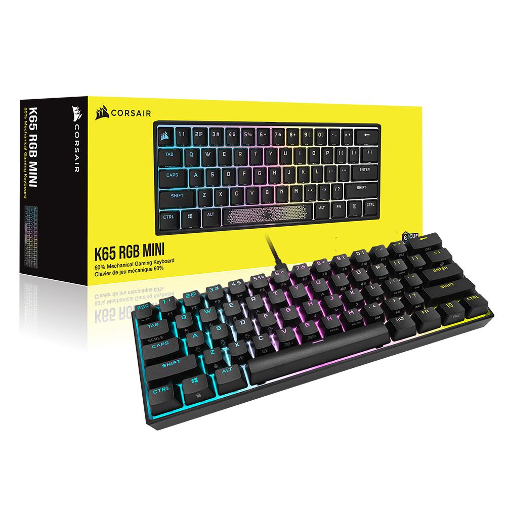 커세어 K65 RGB PBT 미니 기계식 키보드 적축, 텐키리스, RGP0123, 혼합색상-23-5225932477