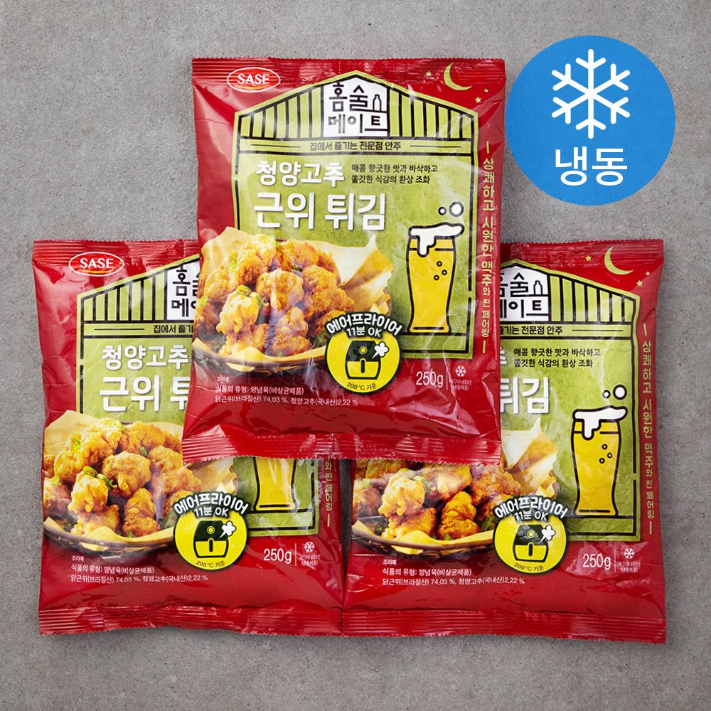 사세 청양고추근위튀김 (냉동), 250g, 3개