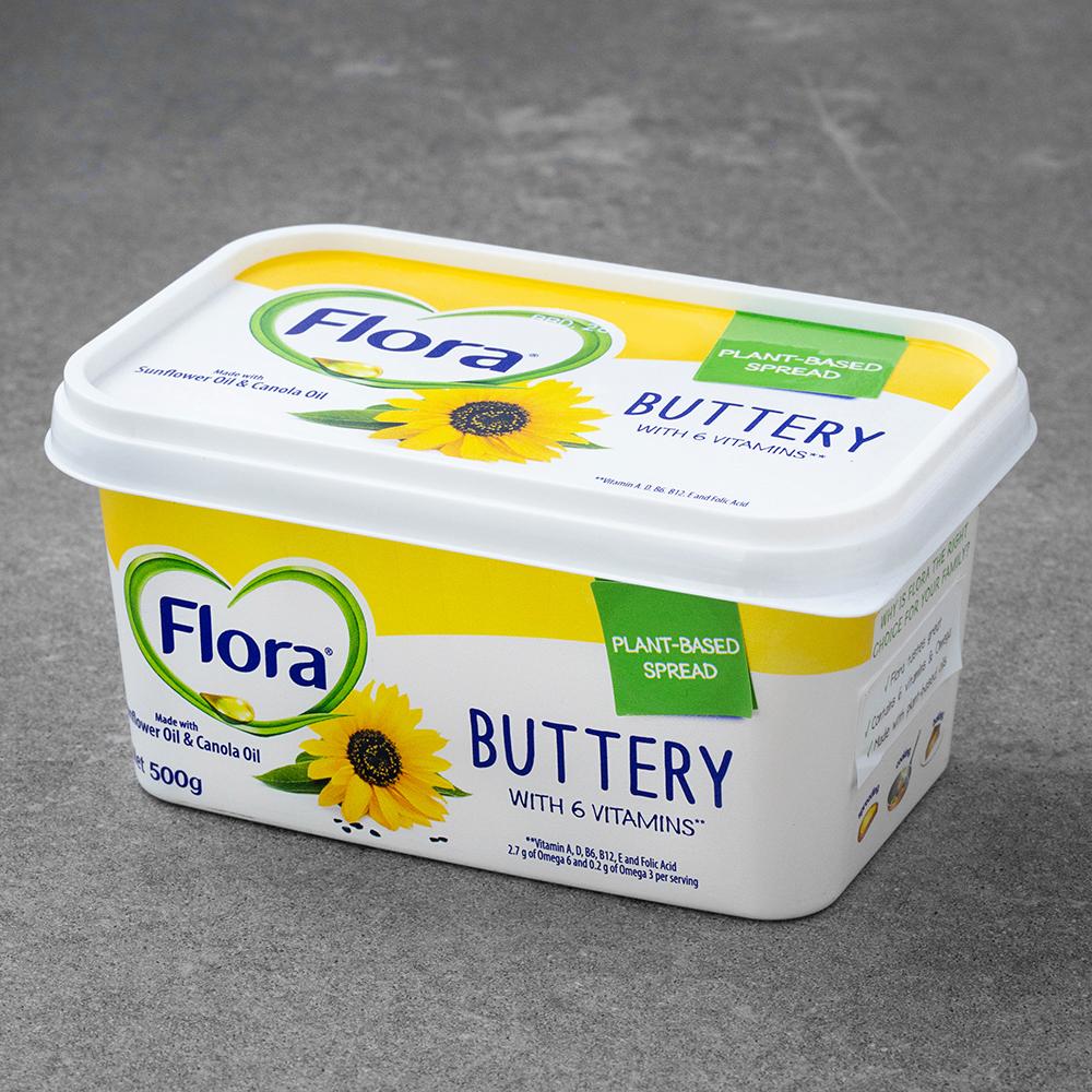플로라 버터리 스프레드 마가린, 500g, 1개