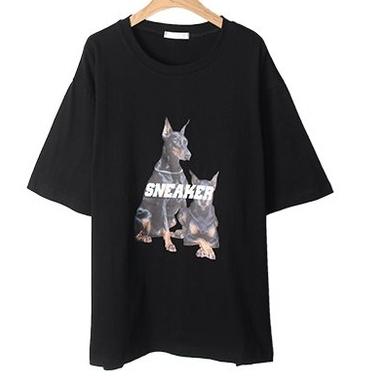 여성용 미단커 프린팅 티셔츠 T6592K13