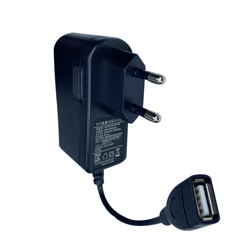 5V 3A USB 전용 충전기 어댑터, 1개