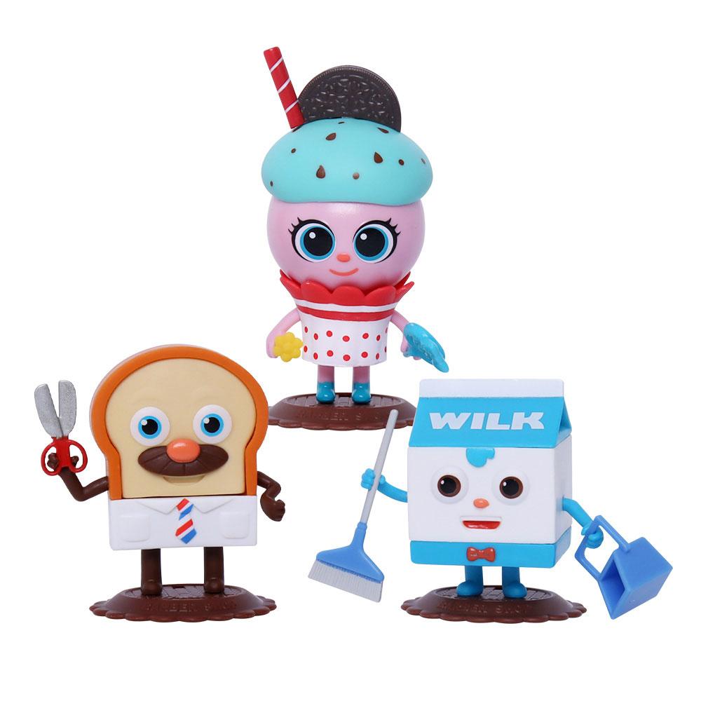 토이트론 딸기크림 케이크 애니메이션피규어 세트, 1세트