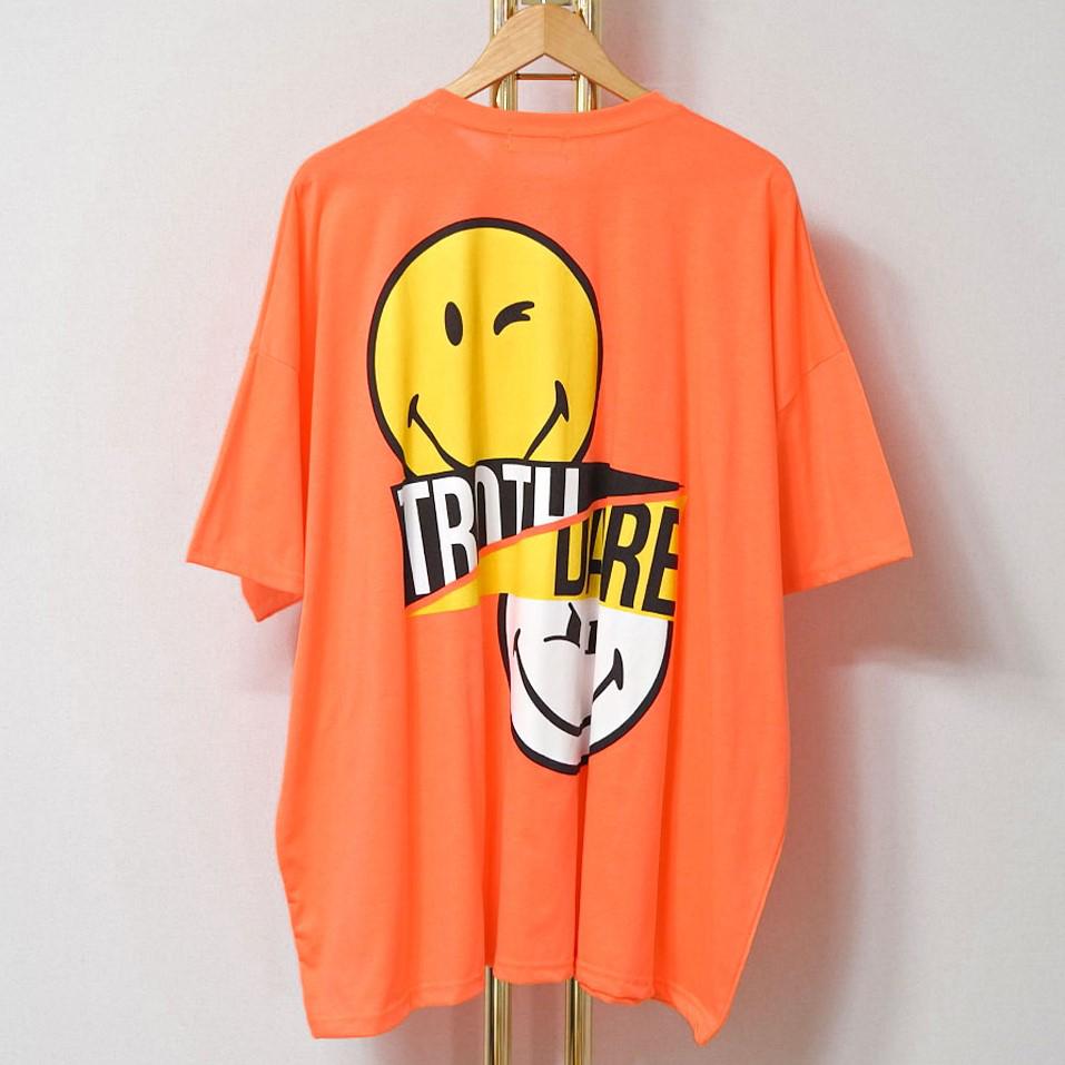 [썸머 프리핏] 매드시스터 여성용 잇츠스마일 프린팅 오버핏 반팔 티셔츠 - 랭킹62위 (19620원)