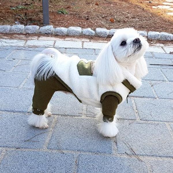 [반려동물조끼] 해피보이스 강아지 포켓 보아털 조끼, 그린 - 랭킹8위 (15390원)