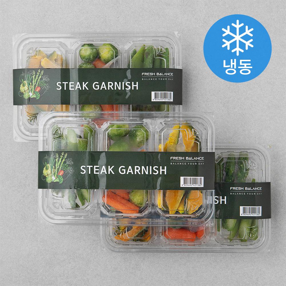 프레시밸런스 스테이크 가니쉬세트 (냉동), 200g, 3세트