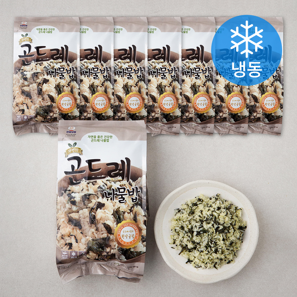 [냉동 도시락] 천일식품 자연의 곤드레 나물밥 (냉동), 1048g, 8개 - 랭킹62위 (58630원)