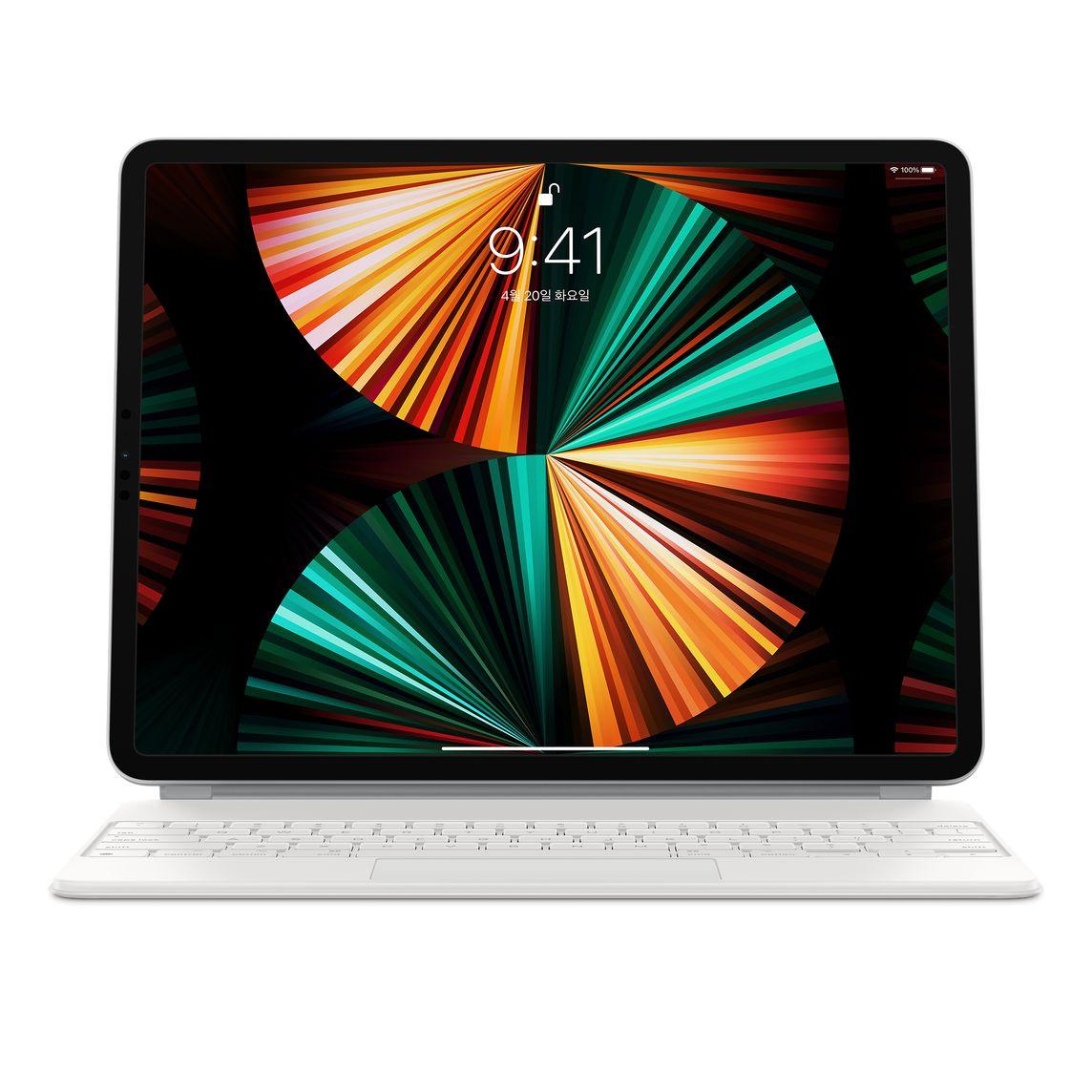 Apple 정품 매직 키보드 iPad Pro 12.9 5세대, 화이트, 한국어