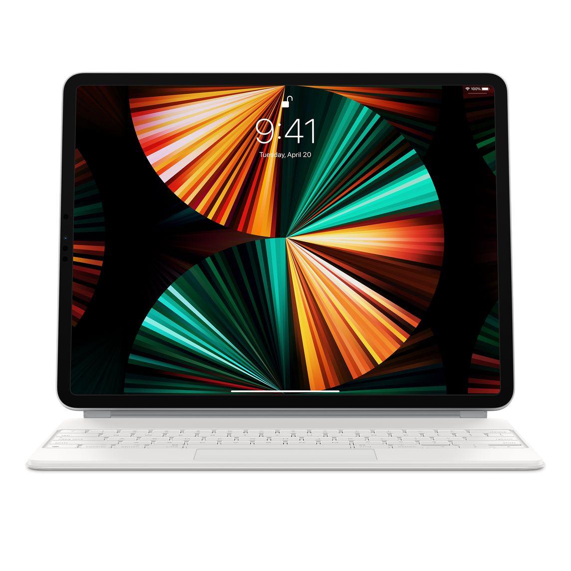 Apple 정품 매직 키보드 iPad Pro 12.9 5세대, 화이트, 영어
