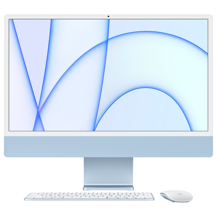 Apple 아이맥 24형 Retina 4.5K, 블루, M1 8-Core CPU, 7-Core GPU, 8GB, 256 SSD