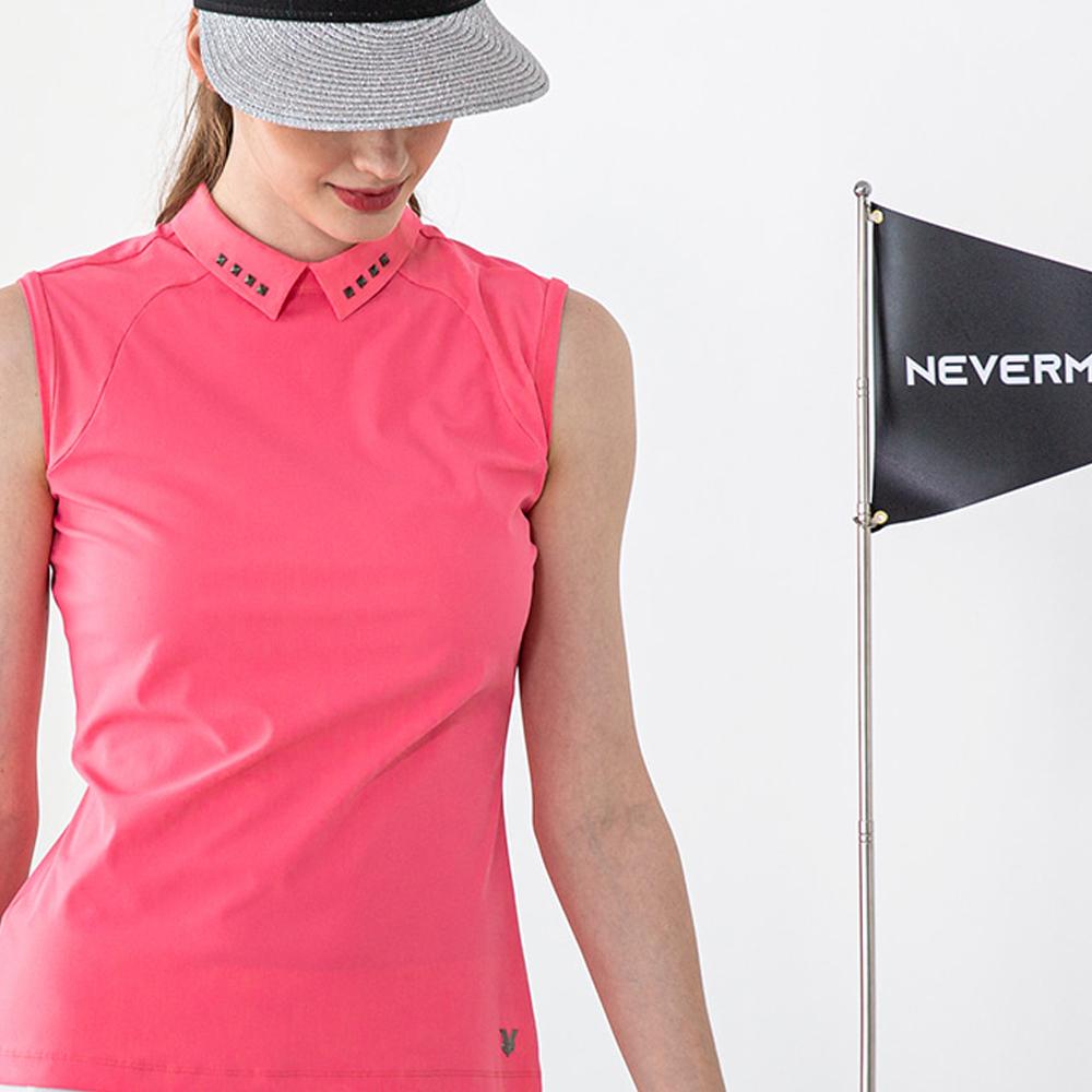 네버마인드올 파레스 하이카라 슬리브리스 골프 티셔츠 TS065