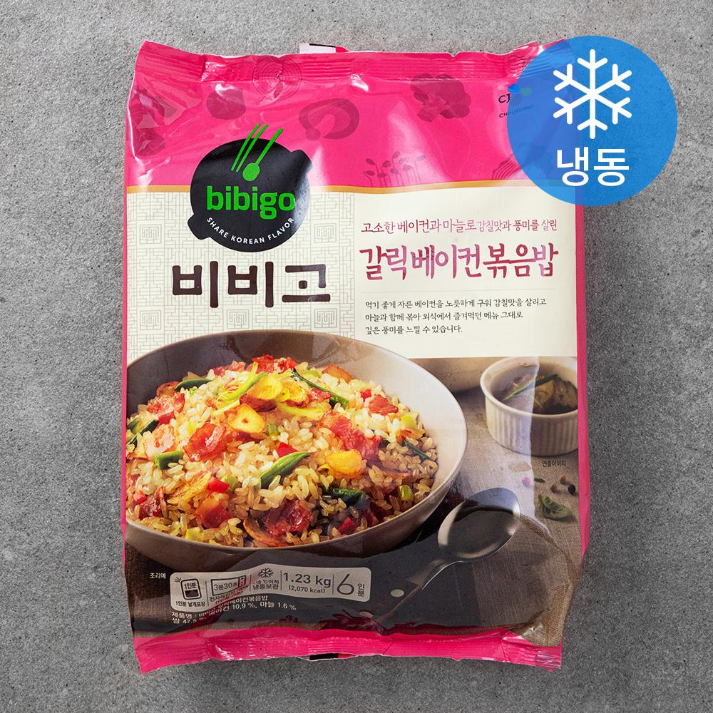 [냉동 도시락] 비비고 갈릭베이컨볶음밥 6인분 (냉동), 1.23kg, 1개 - 랭킹64위 (14950원)