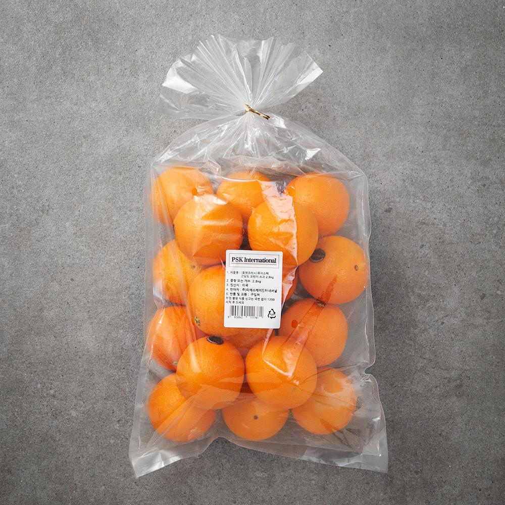 퓨어스펙 고당도 오렌지 소과, 2.8kg, 1봉